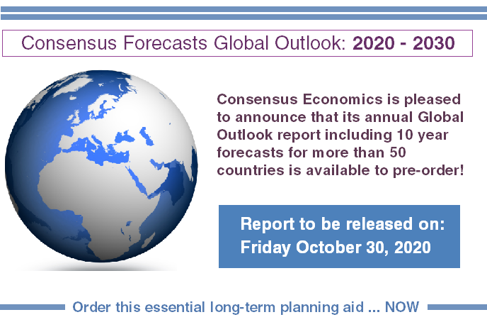 Consensus Forecasts Global Outlook: 2020 – 2030
