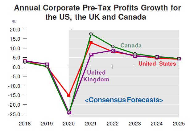 Annual Corporate Profits Forecasts